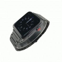 Черный стальной ремешок из нержавеющей стали для Apple Watch 0063-01-1