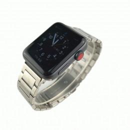 Серебряный стальной ремешок из нержавеющей стали для Apple Watch 0063-01-2
