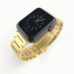 Золотой стальной ремешок из нержавеющей стали для Apple Watch 0063-01-3