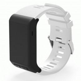 Белый силиконовый спортивный ремешок для Garmin Vivoactive HR 0063-02-1