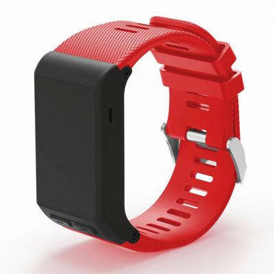 Красный силиконовый спортивный ремешок для Garmin Vivoactive HR 0063-02-11