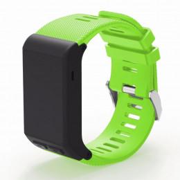 Зеленый силиконовый спортивный ремешок для Garmin Vivoactive HR 0063-02-2