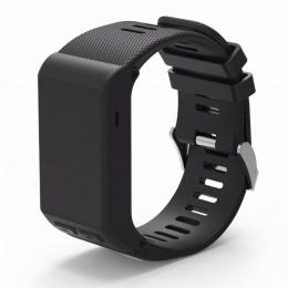 Черный силиконовый спортивный ремешок для Garmin Vivoactive HR 0063-02-3