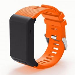 Оранжевый силиконовый спортивный ремешок для Garmin Vivoactive HR 0063-02-4