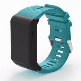 Голубой силиконовый спортивный ремешок для Garmin Vivoactive HR 0063-02-5