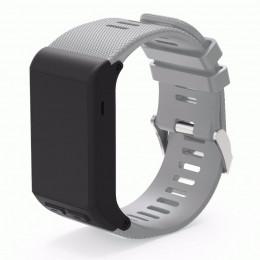 Серый силиконовый спортивный ремешок для Garmin Vivoactive HR 0063-02-6