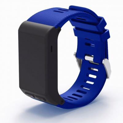 Синий силиконовый спортивный ремешок для Garmin Vivoactive HR 0063-02-7