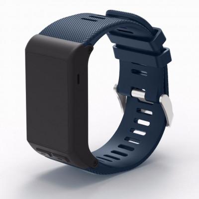 Темно-синий силиконовый спортивный ремешок для Garmin Vivoactive HR 0063-02-8