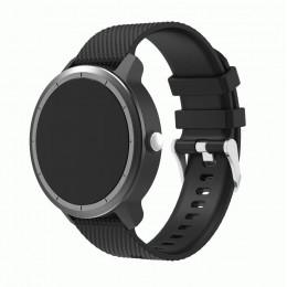 Черный силиконовый ремешок для Garmin Vivoactive 3 0064-02-2