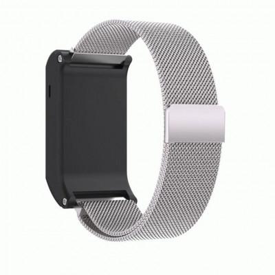 Серебряный миланский магнитный ремешок для Garmin Vivoactive HR 0065-02-5