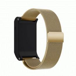 Золотой винтажный миланский магнитный ремешок для Garmin Vivoactive HR 0065-02-7