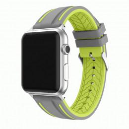 Серо-зеленый двойной силиконовый ремешок для Apple Watch 0066-01-5