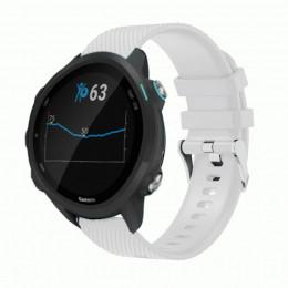 Белый силиконовый спортивный ремешок для Garmin Forerunner 245/645 0068-02-1
