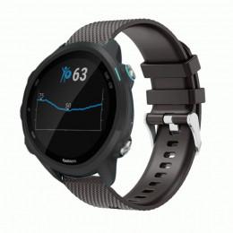 Черный силиконовый спортивный ремешок для Garmin Forerunner 245/645 0068-02-2