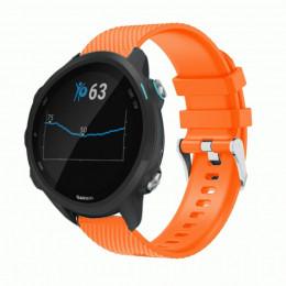 Оранжевый силиконовый спортивный ремешок для Garmin Forerunner 245/645 0068-02-3