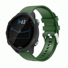 Зеленый силиконовый спортивный ремешок для Garmin Forerunner 245/645 0068-02-7