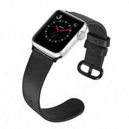Черный классический кожаный ремешок для Apple Watch 0073-01-1