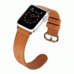Коричневый классический кожаный ремешок для Apple Watch 0073-01-2