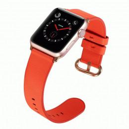 Красный классический кожаный ремешок для Apple Watch 0073-01-5