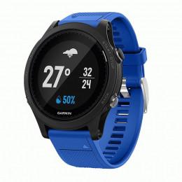 Синий силиконовый спортивный ремешок для Garmin Forerunner 935/945 0073-02-10
