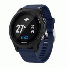 Темно-синий силиконовый спортивный ремешок для Garmin Forerunner 935/945 0073-02-11