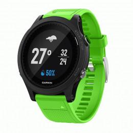 Зеленый силиконовый спортивный ремешок для Garmin Forerunner 935/945 0073-02-12