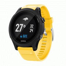 Желтый силиконовый спортивный ремешок для Garmin Forerunner 935/945 0073-02-2