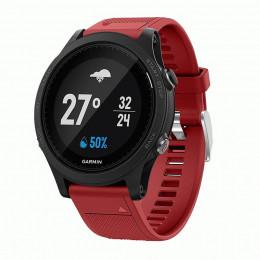 Красный силиконовый спортивный ремешок для Garmin Forerunner 935/945 0073-02-3