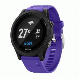 Фиолетовый силиконовый спортивный ремешок для Garmin Forerunner 935/945 0073-02-4