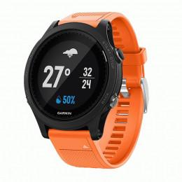 Оранжевый силиконовый спортивный ремешок для Garmin Forerunner 935/945 0073-02-7