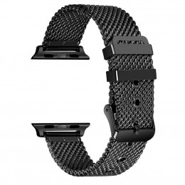 Черный сетчатый стальной ремешок из нержавеющей стали для Apple Watch 0076-01-1