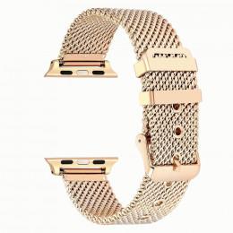 Золотой сетчатый стальной ремешок из нержавеющей стали для Apple Watch 0076-01-3
