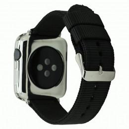 Черный нейлоновый гидрофобный ремешок для Apple Watch 0079-01-1