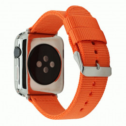 Оранжевый нейлоновый гидрофобный ремешок для Apple Watch 0079-01-4
