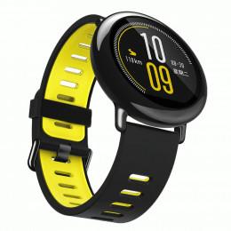 Черно-желтый силиконовый спортивный ремешок для Xiaomi Amazfit Pace 0079-02-4
