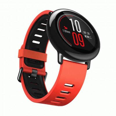 Оранжево-черный силиконовый спортивный ремешок для Xiaomi Amazfit Pace 0079-02-5