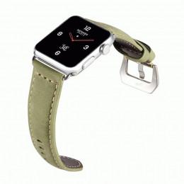 Зеленый кожаный выпуклый ремешок для Apple Watch 0082-01-1