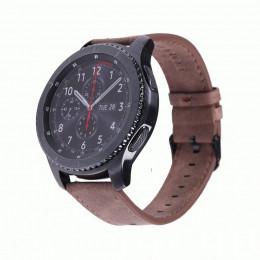 Кофейный классический кожаный ремешок для Samsung Gear S3/Galaxy Watch 46мм 0084-01-1