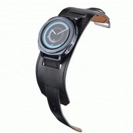 Черный двойной ремешок из натуральной кожи для Samsung Gear/Galaxy Watch 42мм-46мм 0085-01-1