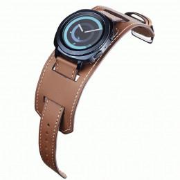 Коричневый двойной ремешок из натуральной кожи для Samsung Gear/Galaxy Watch 42мм-46мм 0085-01-2
