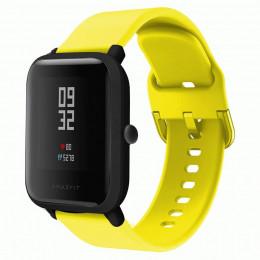 Желтый спортивный силиконовый ремешок для Xiaomi Amazfit Bip / GTS 0086-02-2