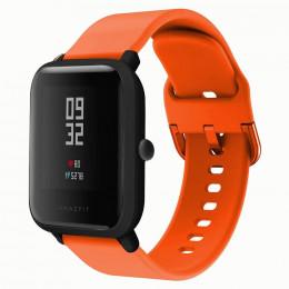 Оранжевый спортивный силиконовый ремешок для Xiaomi Amazfit Bip / GTS 0086-02-4