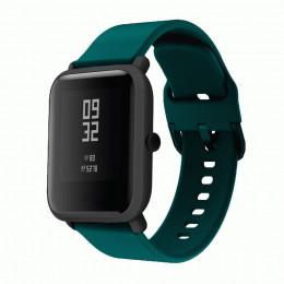 Темно-синий спортивный силиконовый ремешок для Xiaomi Amazfit Bip 0086-02-5