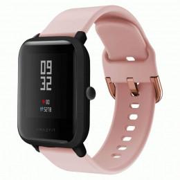 Розовый спортивный силиконовый ремешок для Xiaomi Amazfit Bip 0086-02-6