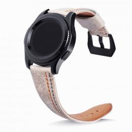 Серый классический кожаный ремешок с тройной строчкой для Samsung Gear S3/Galaxy Watch 46мм 0088-01-4