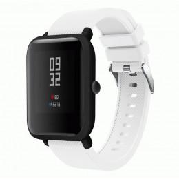 Белый силиконовый ремешок для спортивных часов Xiaomi Amazfit Bip / GTS 0088-02-1