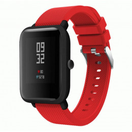Красный силиконовый ремешок для спортивных часов Xiaomi Amazfit Bip 0088-02-3