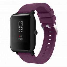 Фиолетовый силиконовый ремешок для спортивных часов Xiaomi Amazfit Bip 0088-02-4