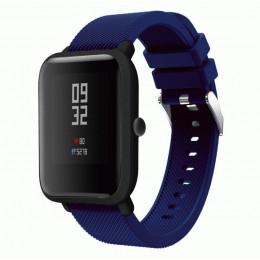 Темно-синий силиконовый ремешок для спортивных часов Xiaomi Amazfit Bip 0088-02-5