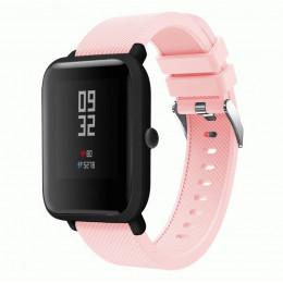 Розовый силиконовый ремешок для спортивных часов Xiaomi Amazfit Bip 0088-02-6